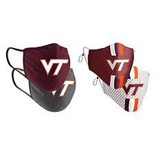Colosseum Collegiate NCAA Team Logo Face Covering 4-Pk - Virginia Tech