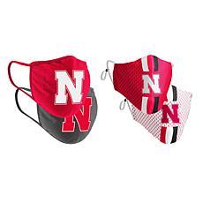 Colosseum Collegiate NCAA Team Logo Face Covering 4-Pk - Nebraska