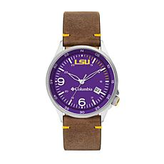 Columbia Men's Canyon Ridge LSU Saddle Leather Strap Watch