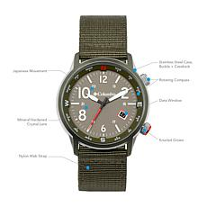 "Columbia ""Outbacker"" Men's  Olive Nylon Strap Watch"