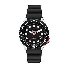 "Columbia ""Pacific Outlander"" Men's Black Silicone Strap Watch"