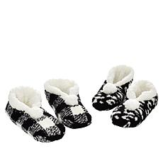 Comfort Code 2-pack faux Sherpa-Lined Slippers