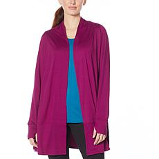 Comfort Code Stretch Jersey Knit Open Front Cardigan