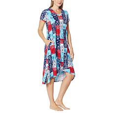 Comfort Code Stretch Jersey V-Neck T-Shirt Dress