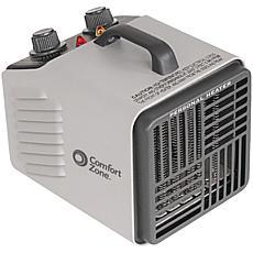 Comfort Zone Personal Heater Fan - Gray