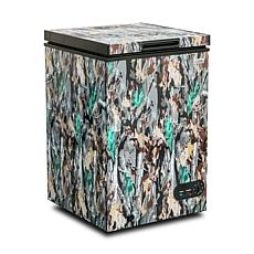 Commercial Cool Chest Freezer Stand Up 3.5 Cubic Feet, Camouflage