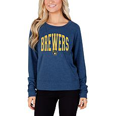 Concepts Sport Mainstream Ladies Knit Long Sleeve Top - Brewers