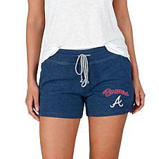 Concepts Sport Mainstream Ladies Knit Short - Braves