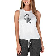 Concepts Sport Officially Licensed MLB Ladies Knit Tank Top Rockies