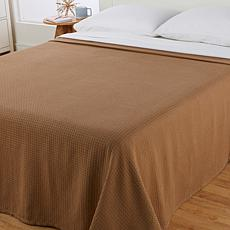 Concierge Collection 100% Cotton Full/Queen Waffle Blanket