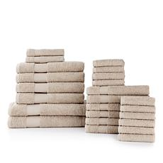 Concierge Collection 100% Turkish Cotton 24-piece Towel Set
