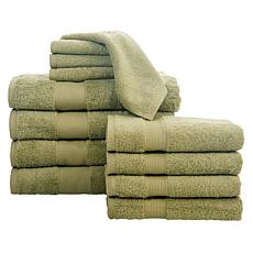 Concierge Collection 12-Piece 100% Turkish Cotton Towel Set
