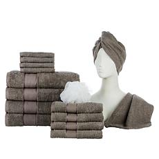 Concierge Collection 15-piece 100% Turkish Cotton Towel Set