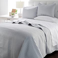 Concierge Collection 3-piece Windowpane Quilt Set