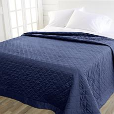 Concierge Collection 300TC 100% Cotton Sateen Quilted Twin Blanket