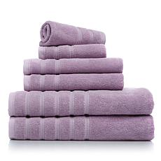Concierge Collection 6pc 100% Combed Cotton Towel Set