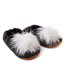Concierge Collection Ballet Slippers w/Pom Pom Detail