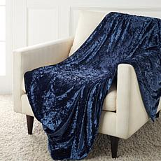 Concierge Collection Elements Crushed Velvet Throw