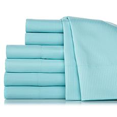 Concierge Set of Solid and Woven Stripe Sheet Sets - K