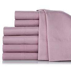 Concierge Set of Solid and Woven Stripe Sheet Sets - T