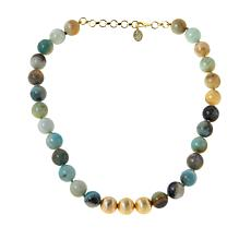 """Connie Craig Carroll Jewelry 18"""" Reese Gemstone Bead Necklace"""