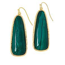 Connie Craig Carroll Jewelry Ella Gemstone Elongated Hammered Earrings