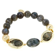 Connie Craig Carroll Jewelry Eva Labradorite Beaded Stretch Bracelet