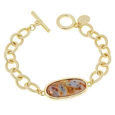 Connie Craig Carroll Jewelry Kate Oval Gemstone Toggle Bracelet