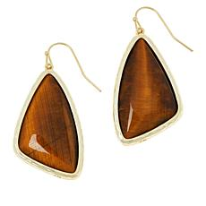 Connie Craig Carroll Jewelry Liz Tiger's Eye Drop Earrings