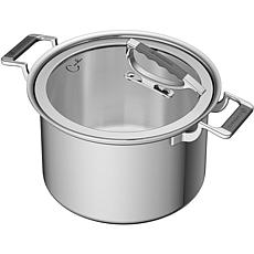 CookCraft 8-Qt. Tri-Ply Stainless Steel Stock Pot with Glass Lid