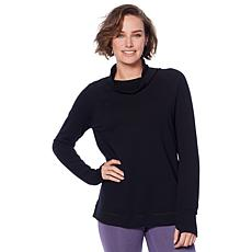 Copper Fit™ French Terry Funnel-Neck Top