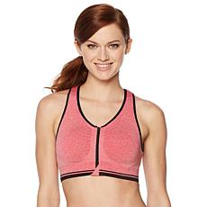 Copper Fit™ Zip-Front Seamless Sports Bra