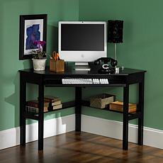 Corner Computer Desk - Black Finish