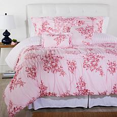 Cottage Collection Printed Ruffle 6-piece Comforter Set - Pink Floral