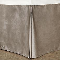 Cottonpure Colors Sustainable Cotton Bed Skirt - Gray Twin