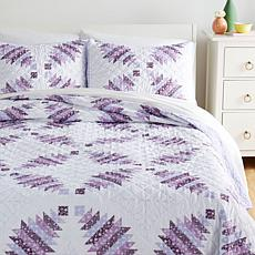 Country Living Home Collection Cathedral Window 3-piece Quilt Set