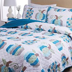 Country Living Home Collection Harvest Quilt Set - Pumpkin