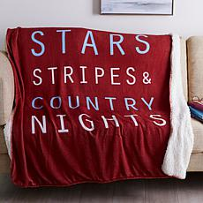 Country Living Home Collection Icon Plush Throw - Country Nights
