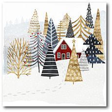 Courtside Market Christmas Chalet I 24x24 Canvas Wall Art