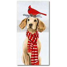Courtside Market Christmas Dog 12x24 Canvas Wall Art