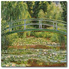 """Courtside Market Claude Monet Le Pont Japonais, Giverny 24"""" Canvas Art"""