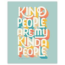 "Courtside Market Kind People I Canvas Wall Art - 20"" x 24"""