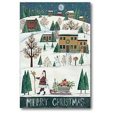 Courtside Market Merry Christmas 18x26 Canvas Wall Art