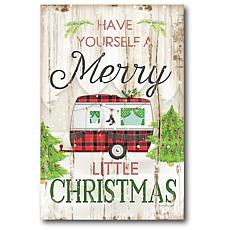 Courtside Market Merry Little Christmas Camper 12x18 Canvas Wall Art