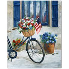"Courtside Market Patriot Bike II Canvas Wall Art - 16"" x 20"""