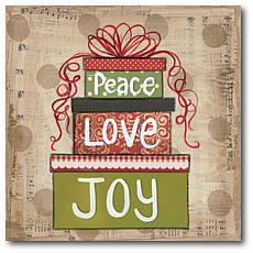Courtside Market Peace Love & Joy 24x24 Canvas Wall Art