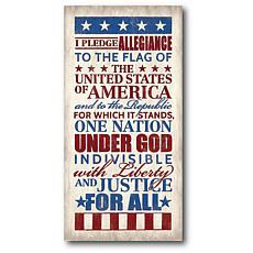 """Courtside Market Pledge of Allegiance Canvas Wall Art - 12"""" x 24"""""""
