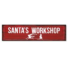 "Courtside Market Santa's Workshop 6"" x 24"" Wooden Panel"