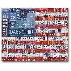 "Courtside Market USA Flag 16"" x 20"" Canvas Wall Art"