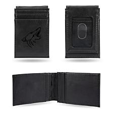 Coyotes Laser-Engraved Front Pocket Wallet - Black